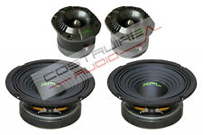 "XPL KIT - 2x TWEETER bullet XTW2511 2x WOOFER XW06-02 165mm 6,5"" 400W  SPL Auto"