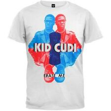 New: KID CUDI - Quad Photo Red/Blue XS (White) Rap Concert T-Shirt