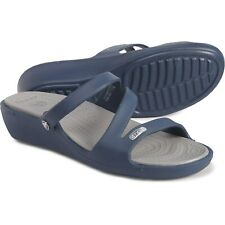 Crocs Patricia Wedge Sandals Color: Navy Women's Size 9 New with tags.
