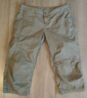 The North Face Brown Capri Pants Outdoor Hiking Jogger Women's Size 12 - Nice!!