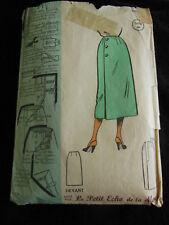 patron ancien jupe portefeuille croisé au dos taille 44 Petit echo
