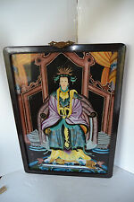CHINESE  REVERSE-EGLOMISE- PAINTING GLASS Empress Late 19th Century