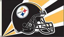Pittsburg Steelers Huge 3'x5' NFL Licensed Helmut Flag / Banner - Free Shipping