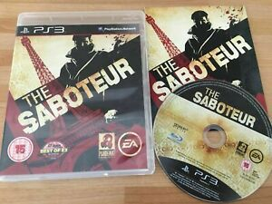 The Saboteur Sony Playstation 3 PS3 PAL COMPLETE  FREE UK P&P