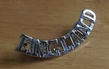 England Badge Bottom Rocker Metal Pin Biker Motorcycle Club  STRIKING finish Mcc