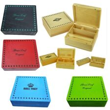 Cigarette Box Smoking Tobacco Wooden Rolling Box Grassleaf Roll Gift Storage New