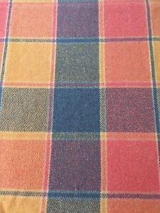 Kent Vintage Multicoloured Check Blanket 180 X 160 Cm.