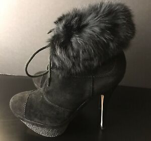 NEW - L.A.M.B Platform Faux Fur Booties Size 9