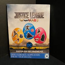Justice League Egg Decorating Kit Superman Batman Wonder Woman Aquaman Flash Dc