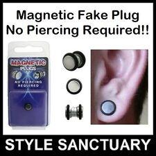 10 x Stainless Steel Magnetic Fake Flesh Plugs Ear Stretchers Earrings Wholesale