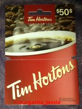 TIM HORTONS 2016 GIFT CARD RED CUP HANGER NO VALUE #6122 NEW FD 51497 CANADA