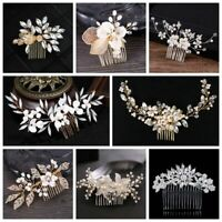 Headpieces Hair Combs Bridal Hair Clips Pearl HairPins Wedding Barrettes