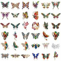 Fashion New Wedding Rhinestone Insect Butterfly Brooch Pin Womens Jewelry Gift