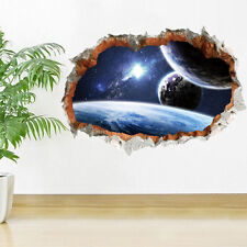 Fantastic 3D Planet Wall Vinyl Art Sticker Mural For Kids Room Ceiling Decor