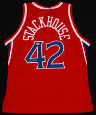 Jerry Stackhouse Signed Sixers Official Champion NBA Jersey (Beckett COA) 76ers