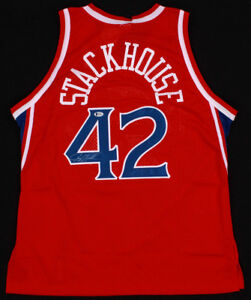 Jerry Stackhouse Signed Sixers Official Champion NBA Jersey (JSA Hologram) 76ers