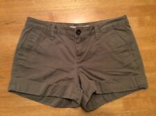OLD NAVY Olive Green Khaki Cotton Chino SHORTS 3 inch inseam Flat front Cuffed 6