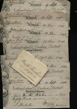 More details for 1848 northumberland & durham district bank original bundle of 14 cheques