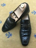 Gucci Mens Shoes Black Leather Horsebit Loafers UK 9.5 US 10.5 EU 43.5
