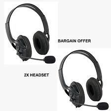 2X noir deluxe casque casque avec microphone pour XBOX 360 live uk vendeur