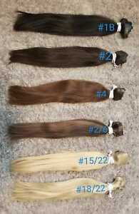 HUMAN CLIP IN HAIR EXTENSIONS FLAT WEFT PU WEFT