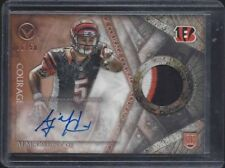 A.J. MCCARRON 2014 TOPPS VALOR COURAGE RPA 3 COLOR ROOKIE PATCH AUTO RC #D 6/50