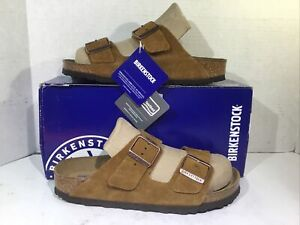 Birkenstock Arizona Mink Suede Sandals Womens Size 8 EU39 ZB7-568