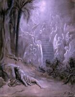 Jacob's Dream (Stairway to Heaven) : Gustave Dore : Archival Quality Art Print