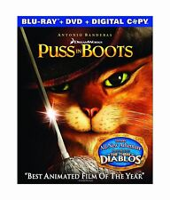 NO ART WORK Puss in Boots (Blu-ray/DVD, 2012, 2-Disc Set mOVIE  COVERLESS