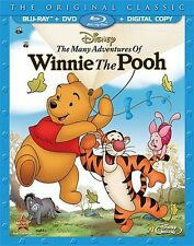 THE MANY ADVENTURES OF WINNIE THE POOH New Sealed Blu-ray + DVD Disney
