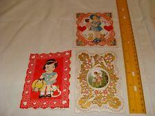 Vintage Valentine's Day cards - Little girls,cupid, 1940's
