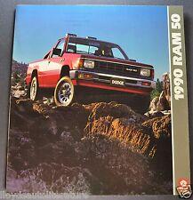 1990 Dodge Ram 50 Pickup Truck Brochure SE LE 4x4 Excellent Original 90