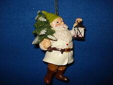 Gnome Ornament White with Tree 1196W 83