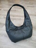 Black Leather Hobo Bag for Women, Alyna