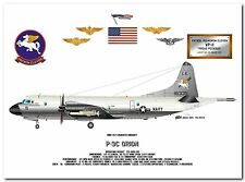 P-3C Orion of the VP-11 Proud Pegasus, US Navy Patrol Aircraft profile print