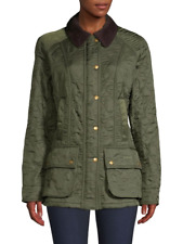 NWD Barbour Beadnell Polarquilt Coat in Olive US Size 8 #C485