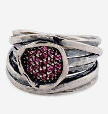 NWT OR PAZ STERLING SILVER 925 PINK TOURMALINE RING SZ 7,9 MADE IN ISRAEL