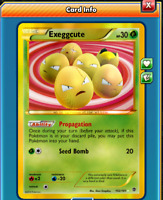 DIGITAL Exeggcute Secret Rare pokemon tcg online