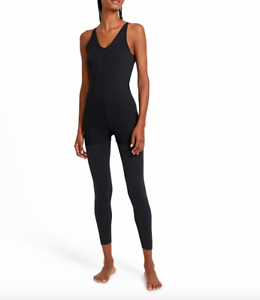 Nike Yoga Luxe Women Black Layered 7/8 Jumpsuit Size M NWT 110$+TAX