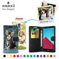 Custodia Flip Cover Pelle Portafoglio Personalizzata Foto Per LG G4