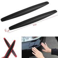 2x Universal Car Carbon Fiber Anti-rub Strip Bumper Body Corner Protector ZRU