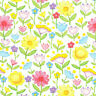 Garden Baby floral Cute flowers Fabri-Quilt 100% Cotton fabric by the yard