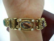 VINTAGE 14K CAMEO COVER WATCH SLIDE BRACELET