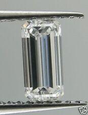 """Certified 0.35 carat """"Emerald"""" cut diamond  """"D"""", SI-1"""