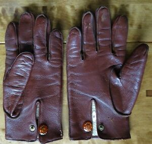 Vintage Fleece Lined Leather Gloves by Dents
