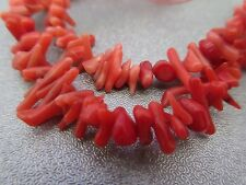 Red Bamboo Coral Cupolini Branch Beads 15 inches Long