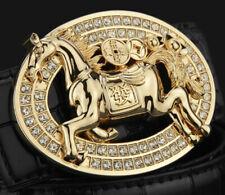 Caballo Diamantes Hombre Mujer Hebilla Sólo Para 38MM Cinturón Unisex Hebillas
