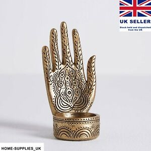 Buddha Hand Tealight Holder Antique Show Piece Centrepiece GIFT Gold Ornament