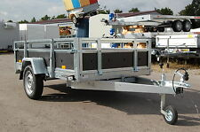 PKW Anhänger Kippanhänger 750 kg 2 Klappen1 Achse ca.  263 x 125 cm Reling