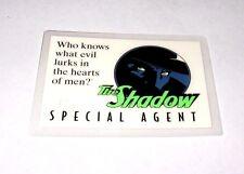 RARE 1993 THE SHADOW SPECIAL AGENT MOVIE PROMO ID CLUB CARD - ALEC BALDWIN PULP